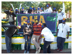 RHA's Homecoming float