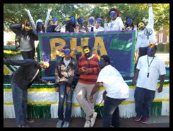 RHA's Homecoming float