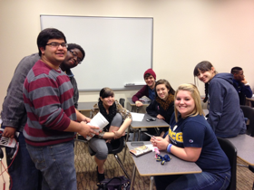 Hall Council Members working hard at Hall Council Cup – RHA's Spring Training Event